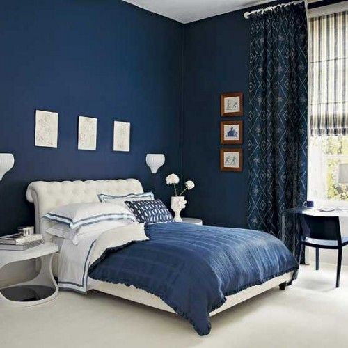 Blue And White Bedroom Design Picture Bedroom Pinterest Dark - navy blue bedroom ideas