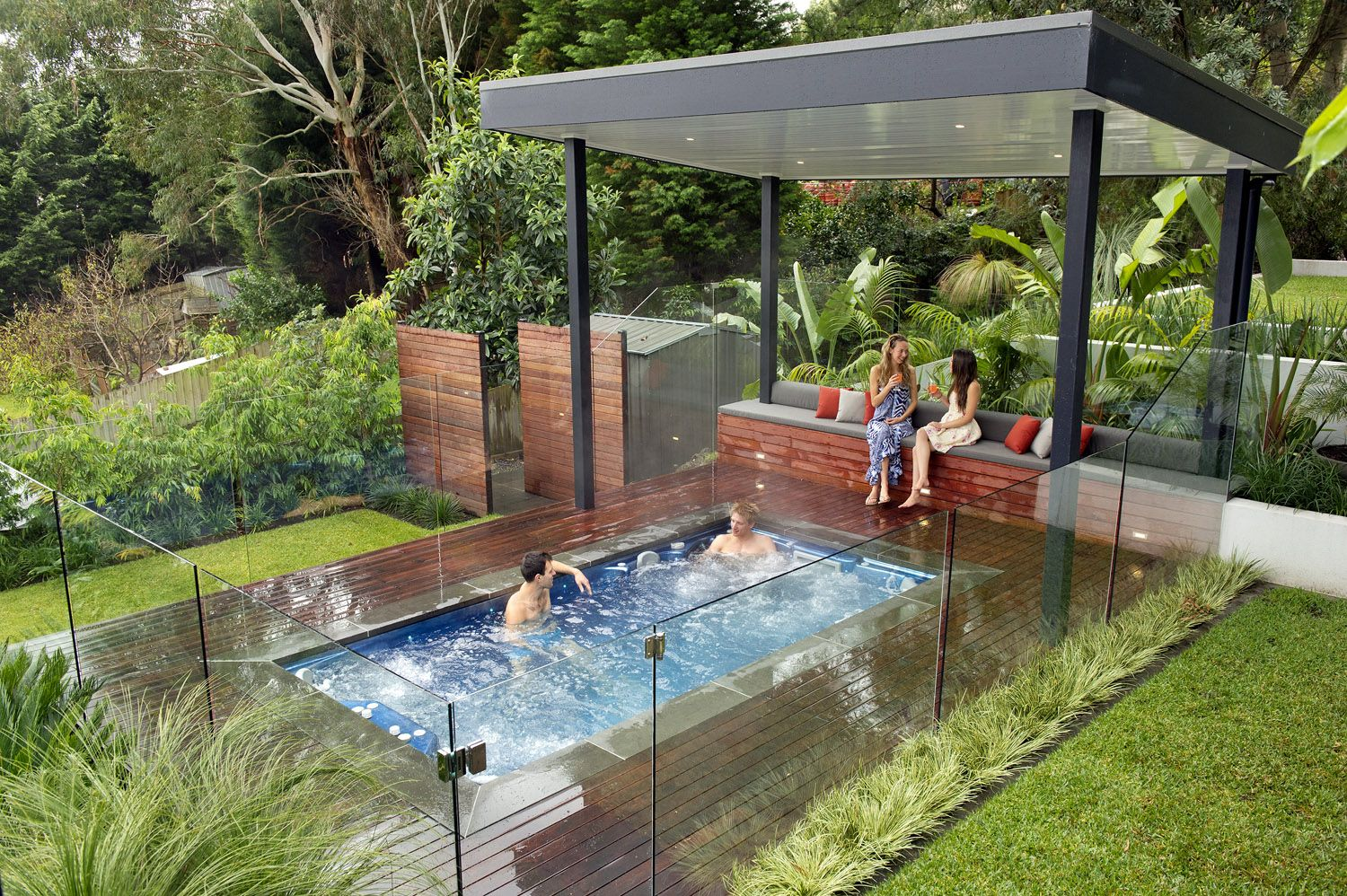 Jacuzzi Extérieur Design Modern Nice Design Of The Outdoor Spa Landscaping Ideas