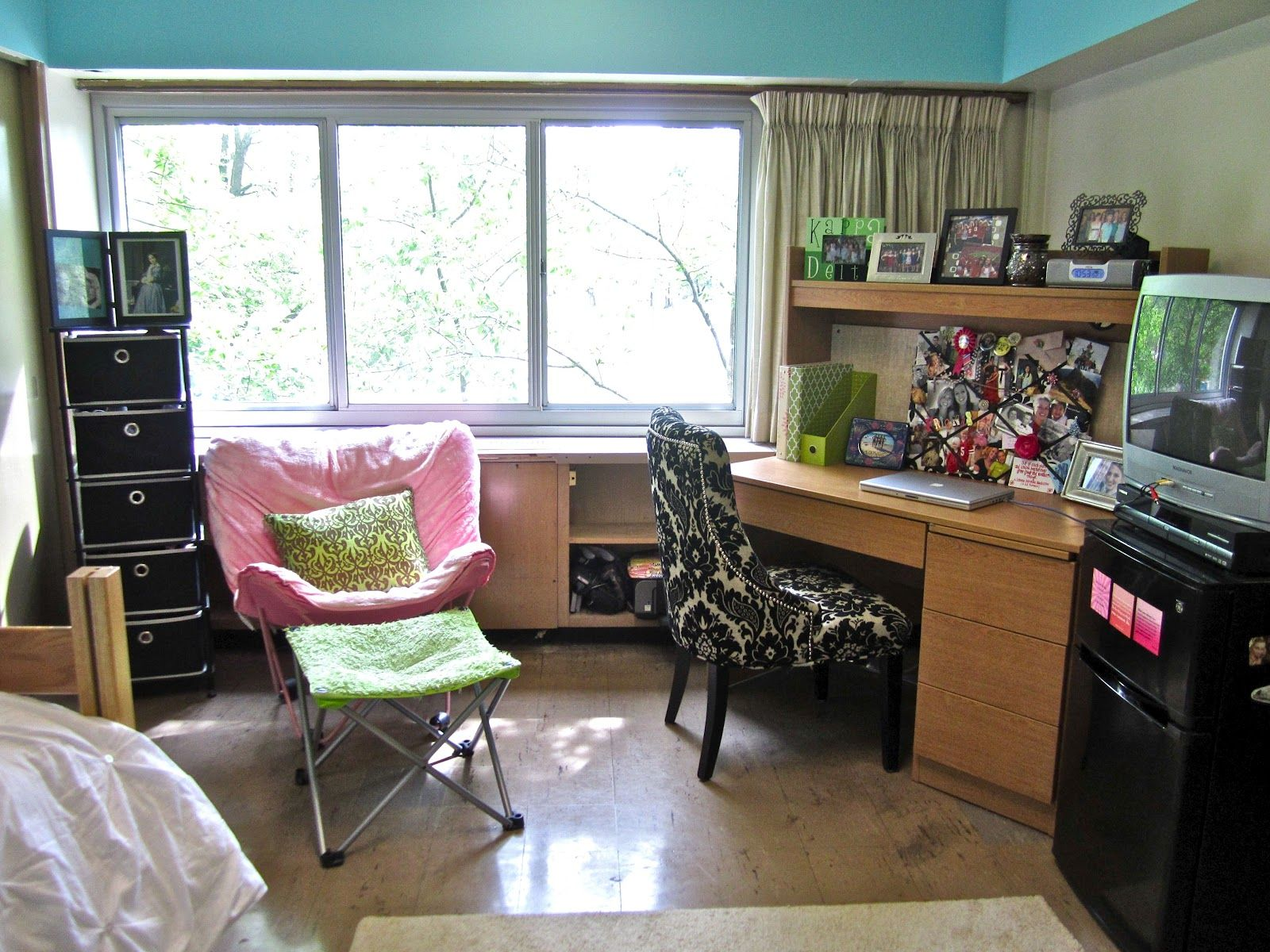 Cool Dorm Furniture Got Clunky Dorm Furniture? Add Touches Of Colorful Prints