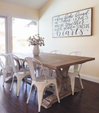 Farmhouse Table with Metal Chairs from Homespun Signs ...