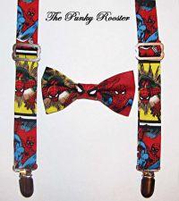 Superhero Suspenders, Superhero Bow Tie Set, Spiderman ...
