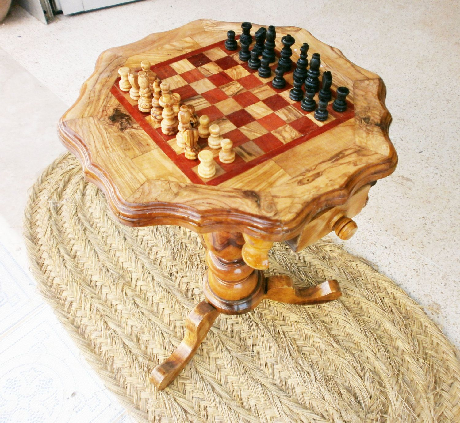 Diy Wood Chess Board Olive Wood Chess Table Best Chess Sets Pinterest