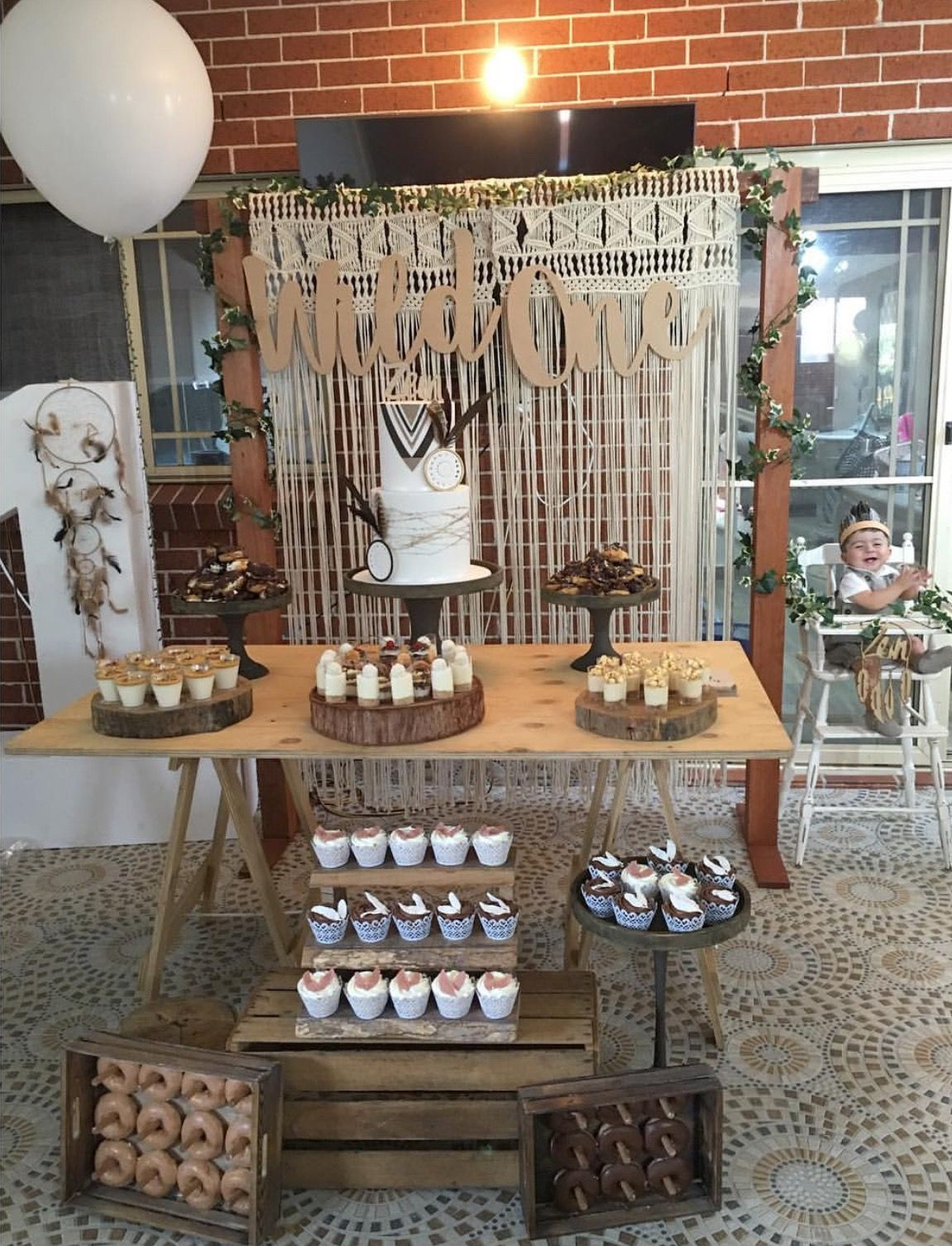 Diy Backdrop Stand For Dessert Table Wild One Diy Styling Using All Our Rustic Props Trestle