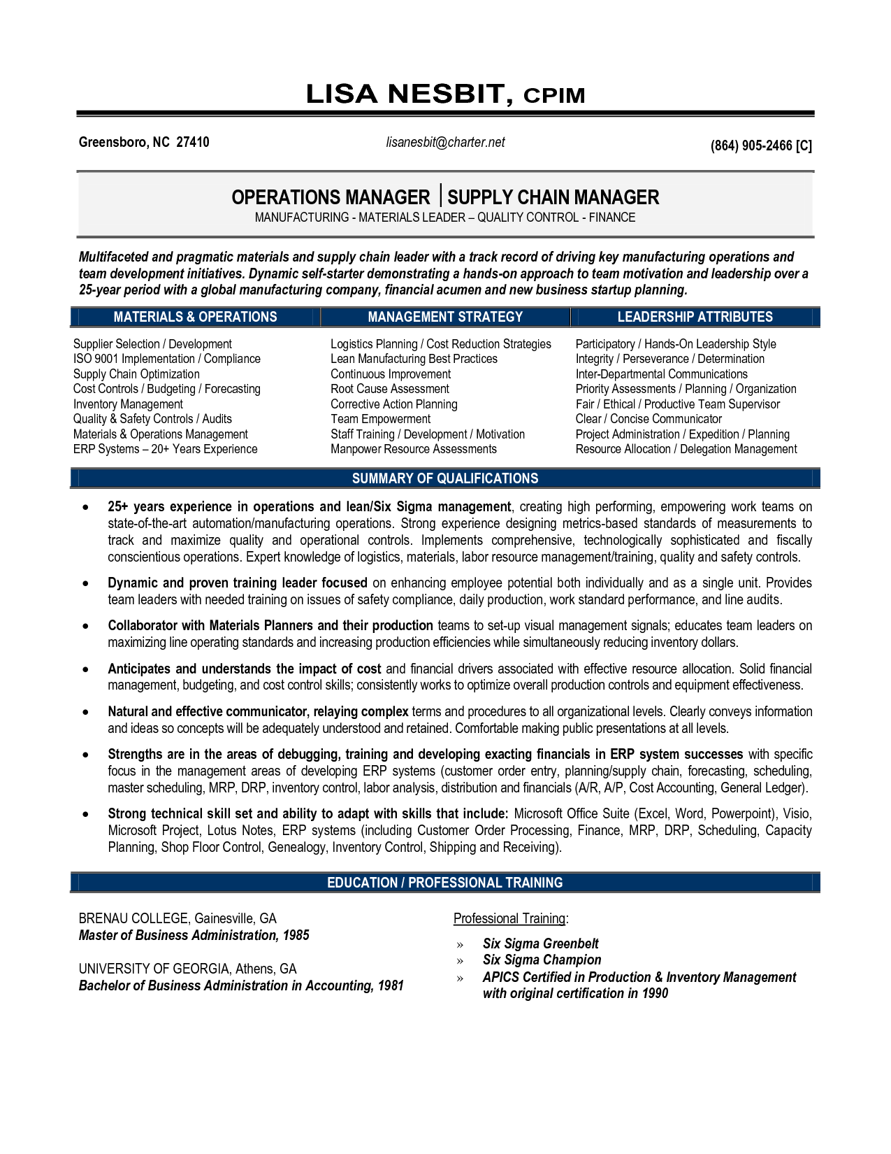 resume examples for logistics management specialist