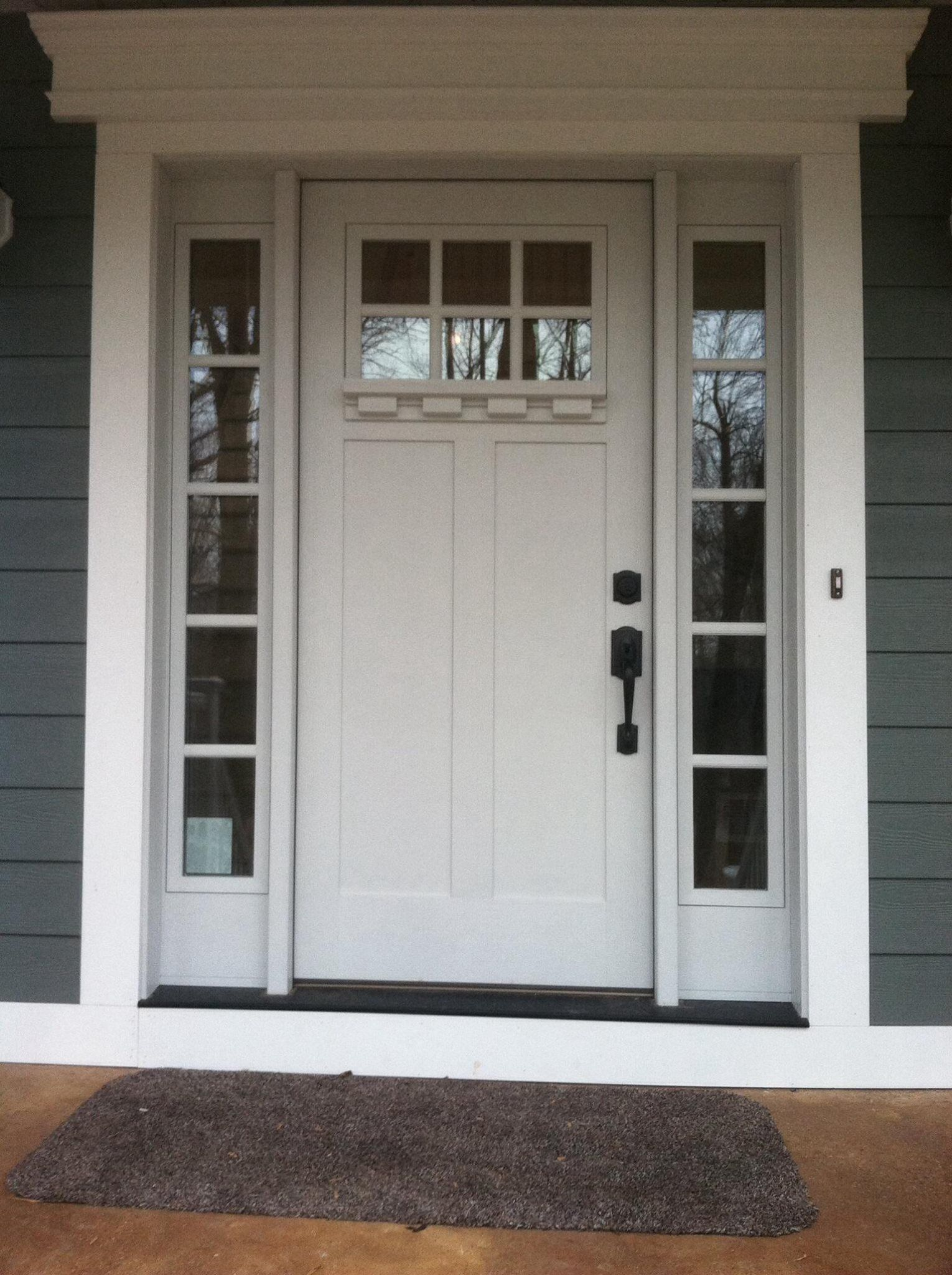 Crisp and clean just in time for spring clopay craftsman collection fiberglass front door factory