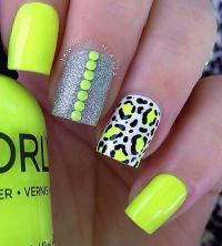 50+ Leopard Nail Art Ideas | Neon nail art, Neon nails and ...