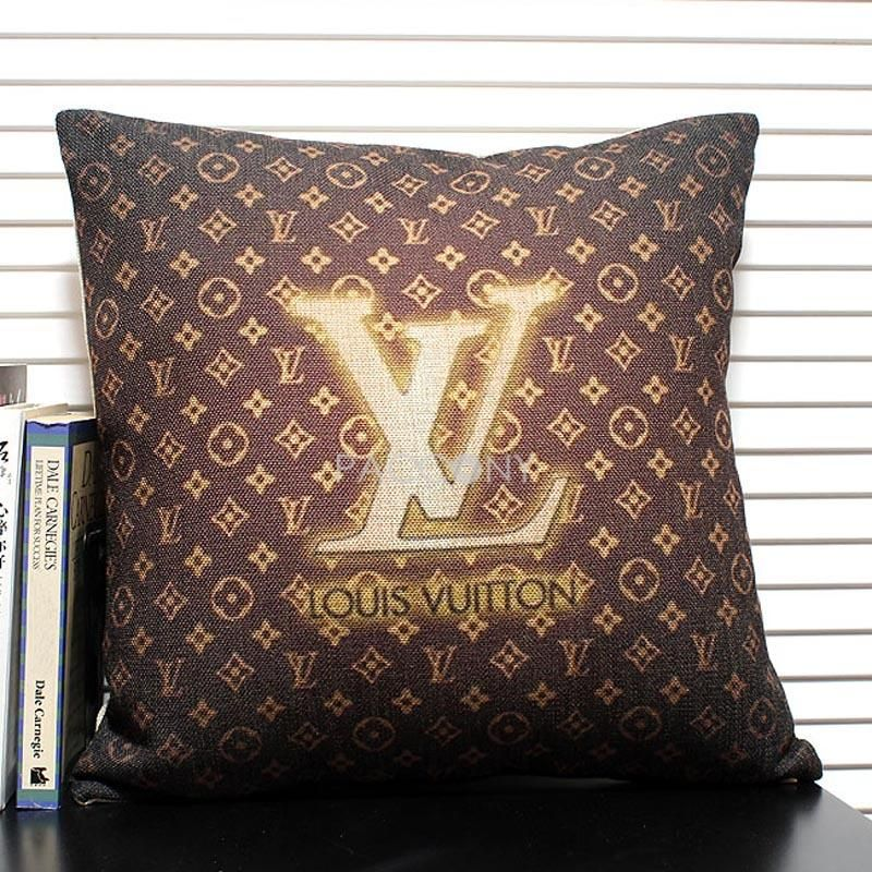 Vanity Tapijt $35.99 Lv Linen Decorative Pillowcase With Filling
