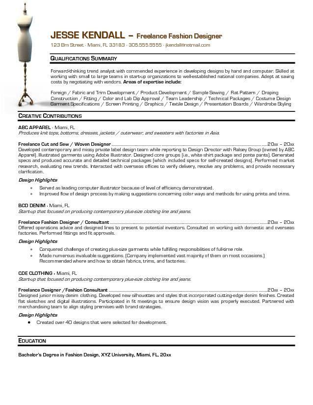fashion resume templates fashion designer resume templates - fashion resume templates