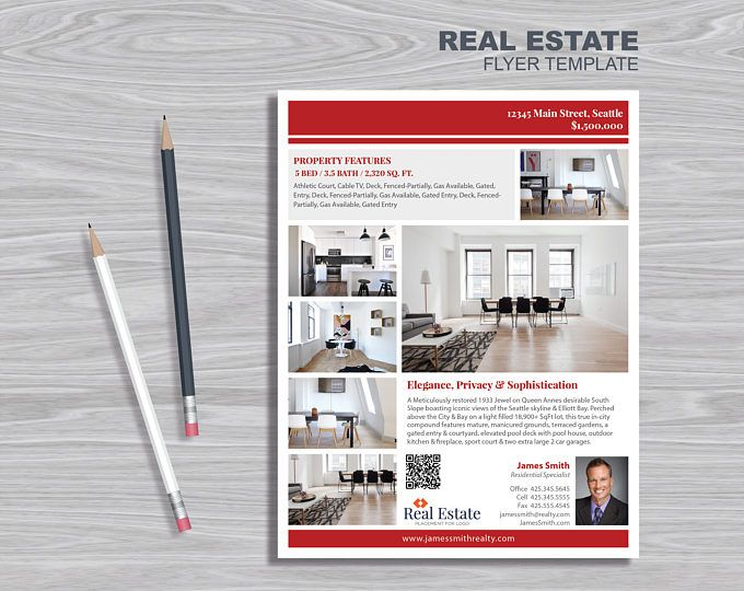 $15 Real Estate Flyer Template PowerPoint, Publisher and InDesign - powerpoint flyer template