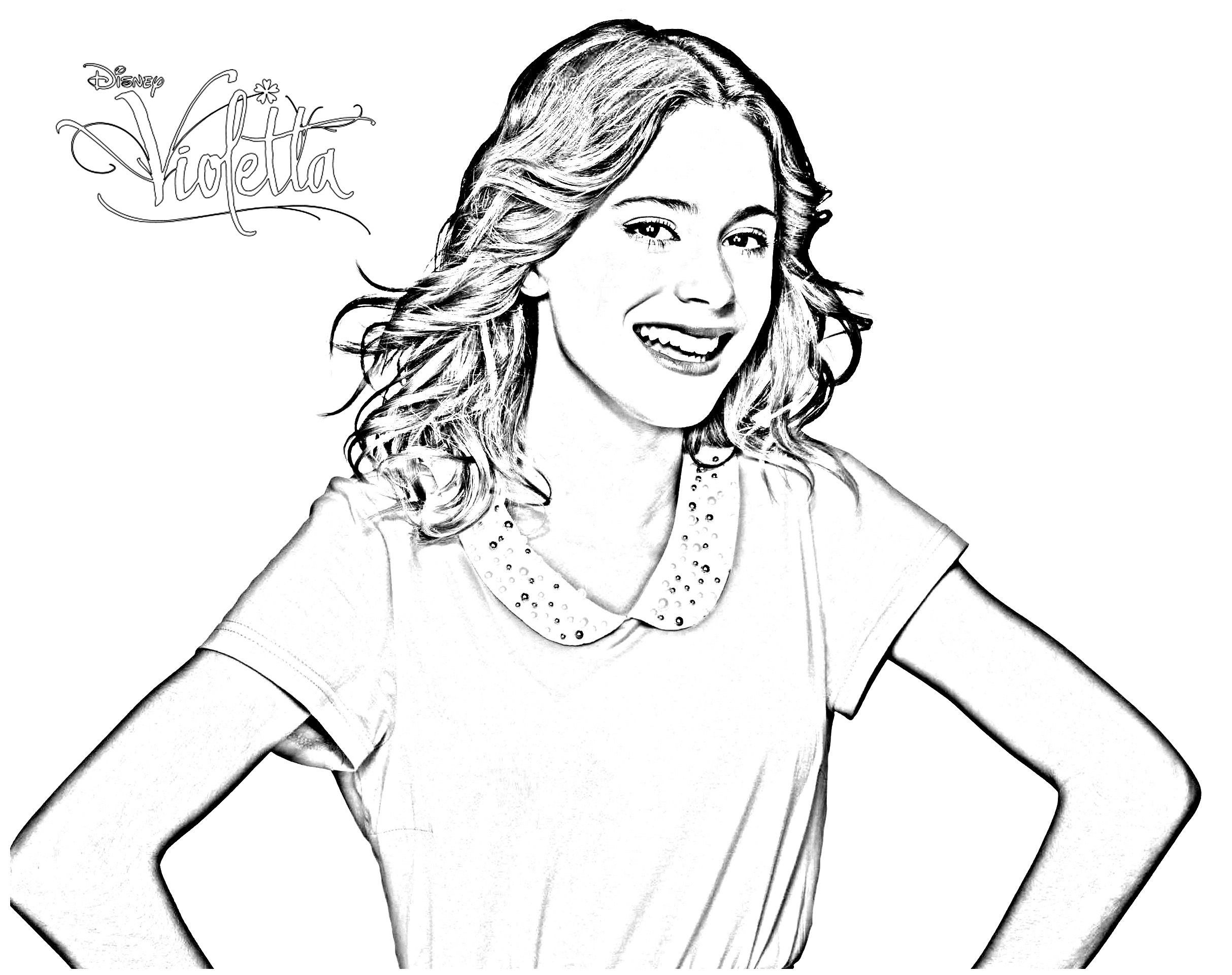 Violetta coloring pages coloring for kids coloring simple violetta
