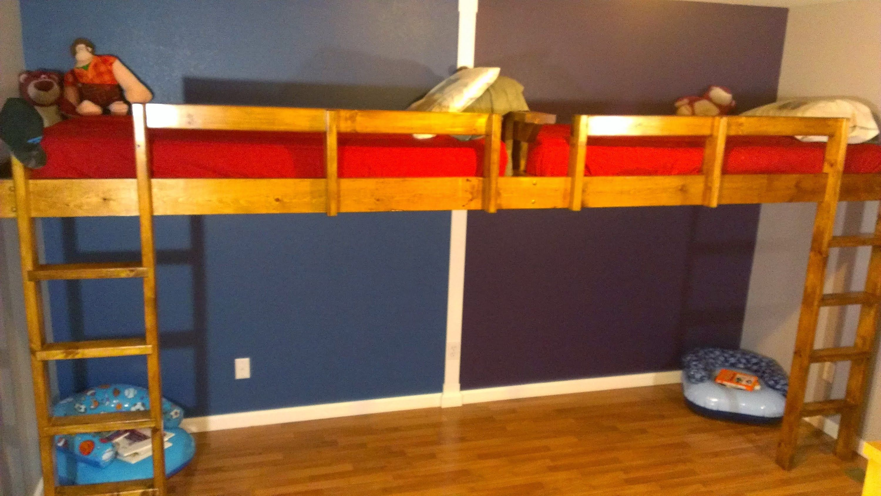 Double Loft Bed For Kids I Built This Double Loft Bed With 2 Twin Mattresses For My