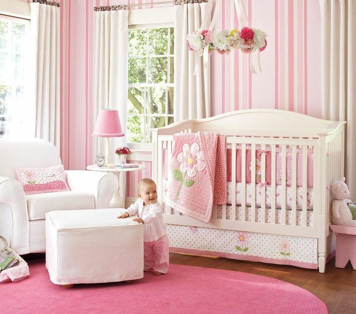 kinderzimmer gestalten babyzimmer für kleines baby mädchen rosa - kinderzimmer gestalten madchen