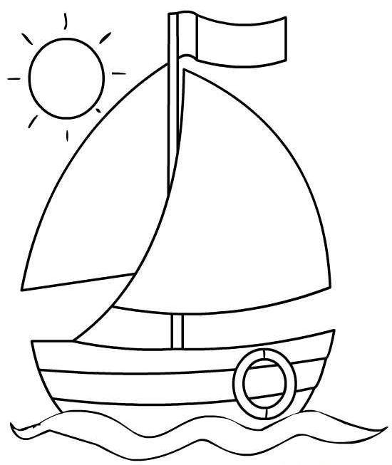 Asombroso Barco Para Colorear Imprimible Bosquejo - Auto Electrical ...