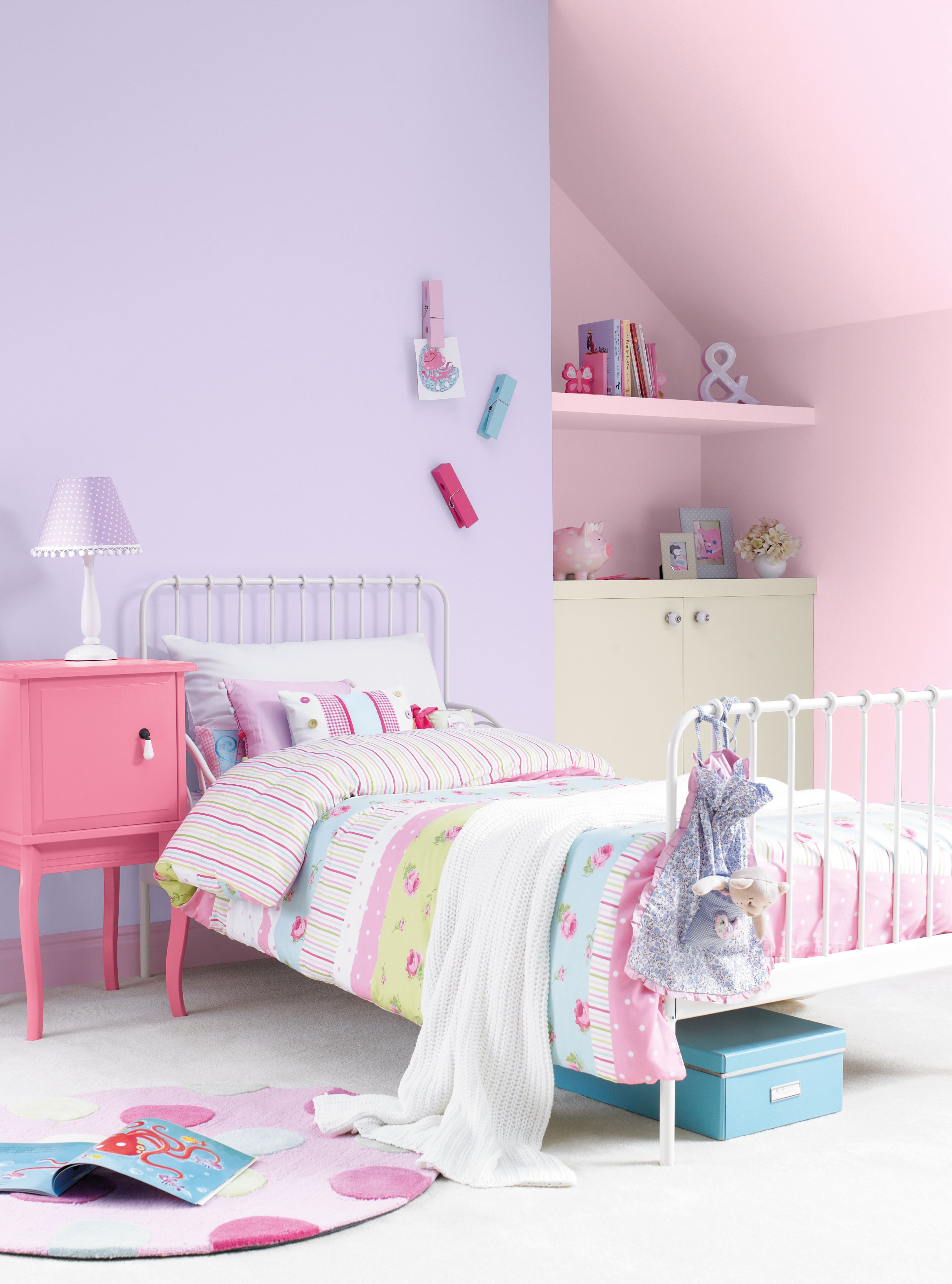 Pretty Girls Bedrooms Pretty Girls Bedroom Painted With Crown Matt Emulsion In
