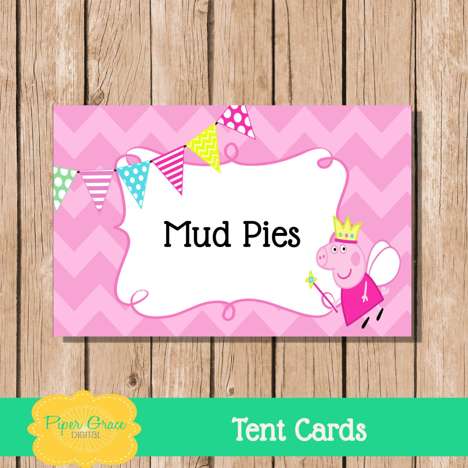 Cuisine Peppa Pig Peppa Pig Food Tent Cards Peppa Pig Fairy Tent Cards