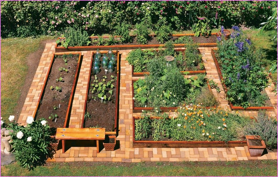 raised garden beds cedar wood - front yard landscaping ideas - raised bed garden designs
