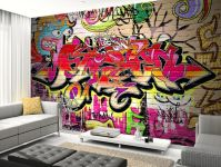 Graffiti Wall Wall Mural | Graffiti wall, Wall murals and ...