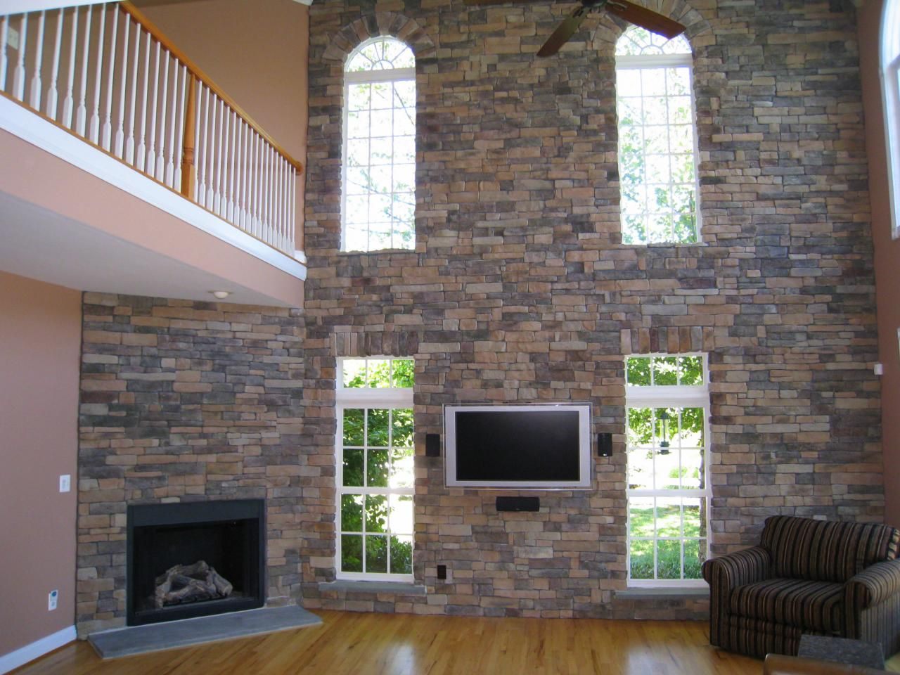 Brick Veneer Accent Wall Love The Interior Fauxstone Check Out Our Panels The