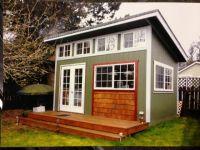 Slant Roof. custom built, garden shed, mother in law home ...
