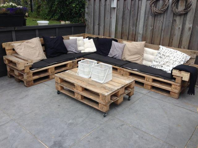 möbel außen terrasse europaletten selber bauen tisch rollen - holz mobel aus europaletten bauen