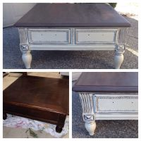 Chalk painted Annie Sloan coffee table   Refinished ...