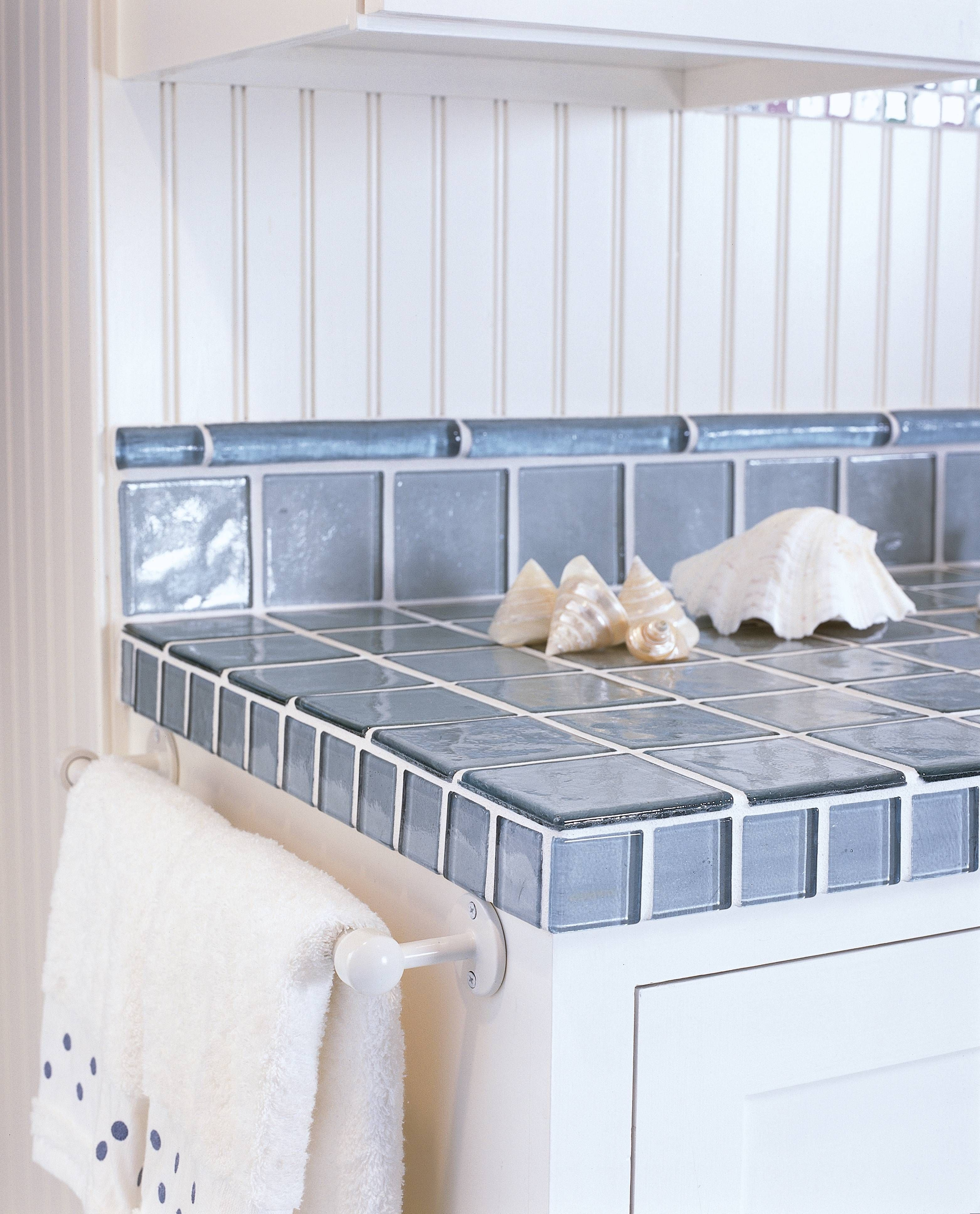 kitchen countertop tile Image Gallery of Recycled Glass Tile Counters