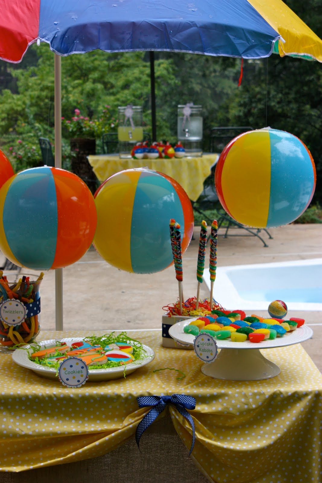 Party Piscina Splish Splash Pool Party Theme Twizlers Beach Balls