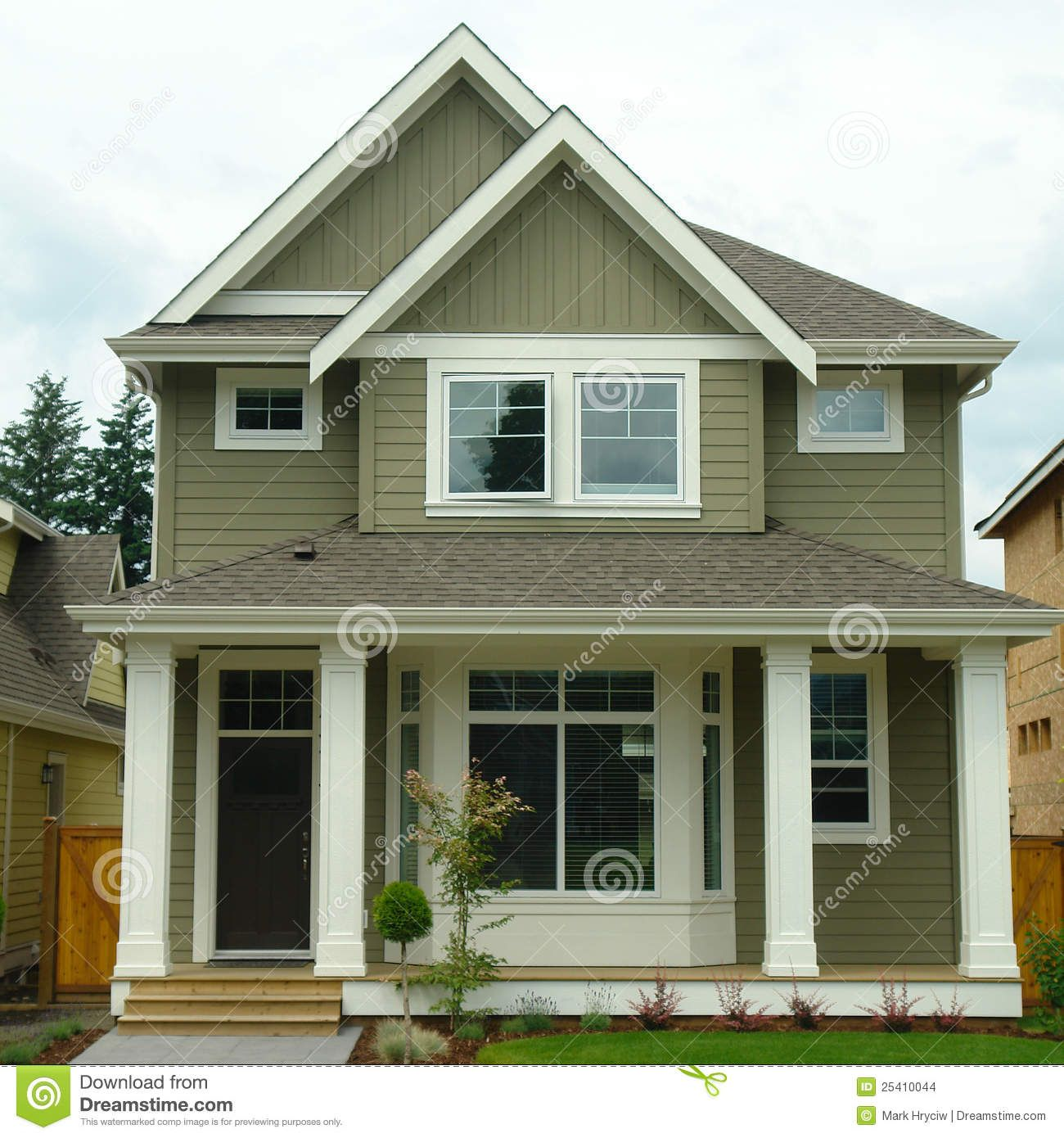 Forest green exterior house color new home house exterior 25410044