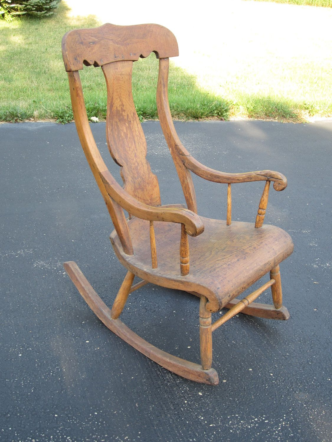 Looking For Rocking Chairs Primitive Vintage Farmhouse Wooden Wood Rocking Chair