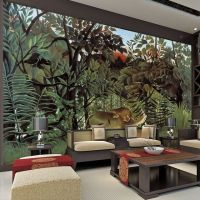 Rousseau Jungle Painting Wallpaper Custom 3D Wall Murals ...