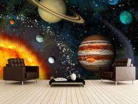 3D Solar System Wall Mural