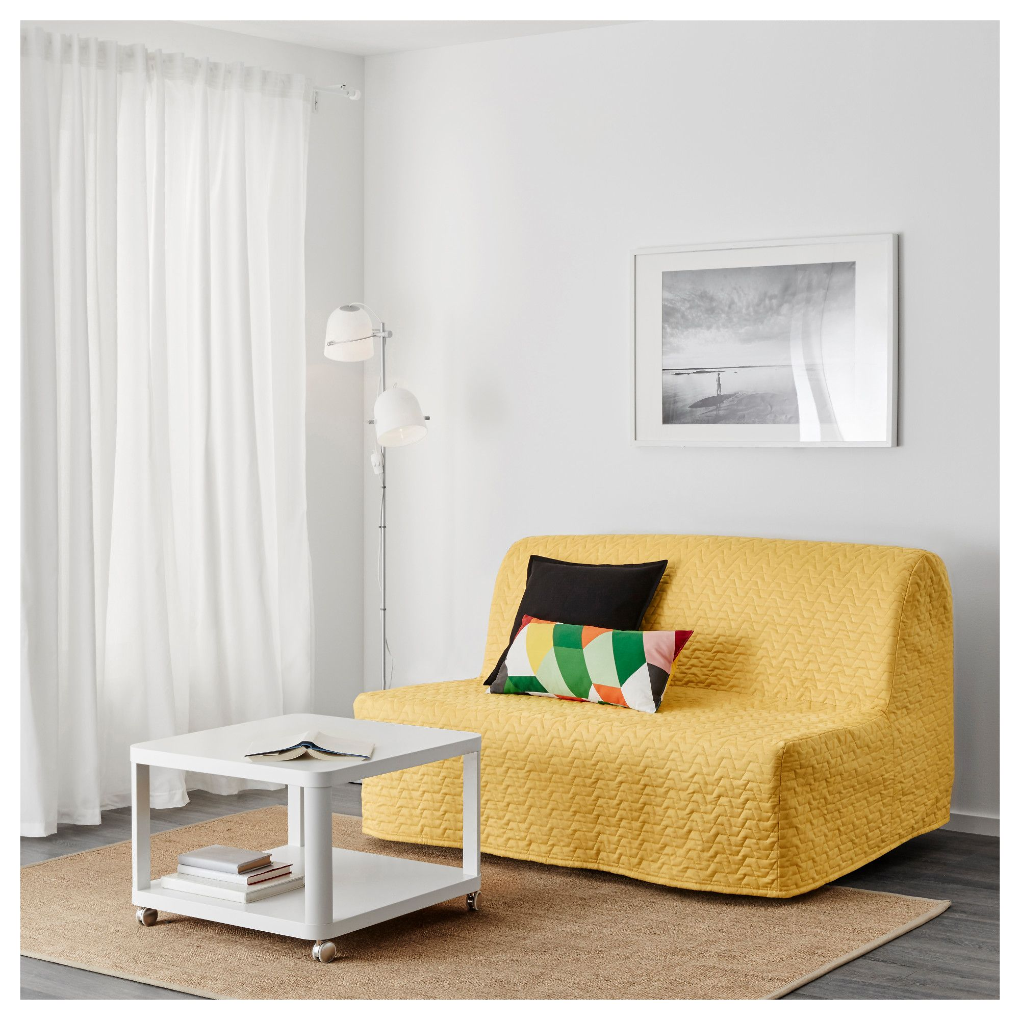 Ikea Bettsessel Murbo Lycksele Murbo Two Seat Sofa Bed Vallarum Yellow Foam