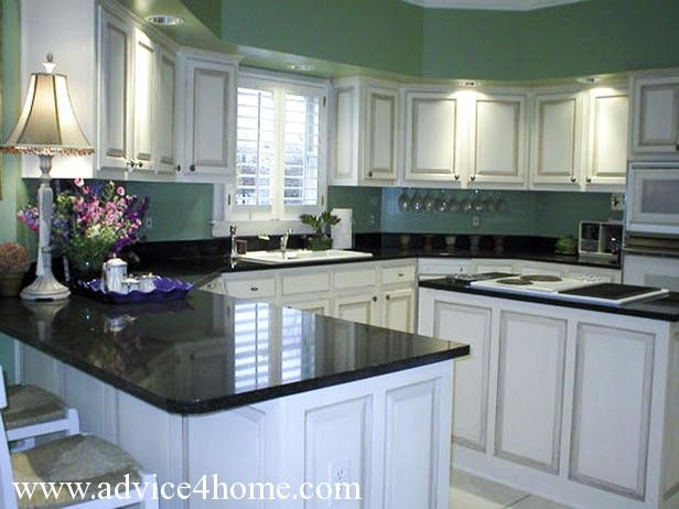 Gree N White Combination For Kitchen Cabinets White Washed Cabinets Design And Green Wall And Dramatic