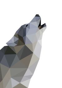 Wolf Wall Art Geometric Wolf Printable Home Decor by ...