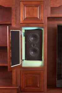 Hidden speakers living room traditional with speakers in ...
