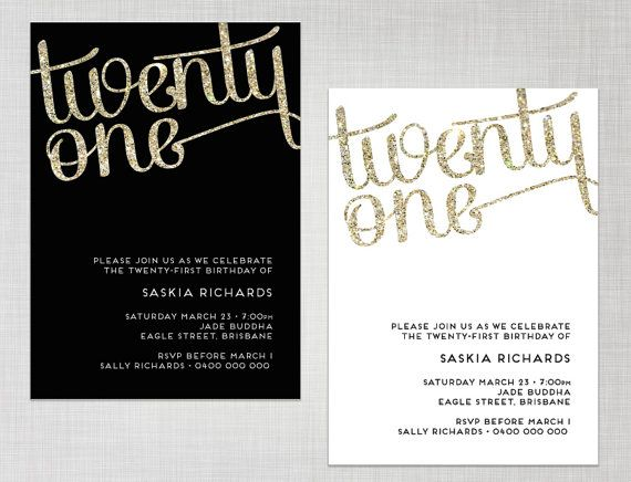 21st invite templates