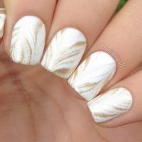 35 Elegant and Amazing White and Gold Nail Art Designs ...