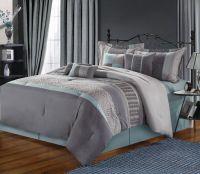 grey beige and aqua contemporary decorating | Chic Home 8 ...