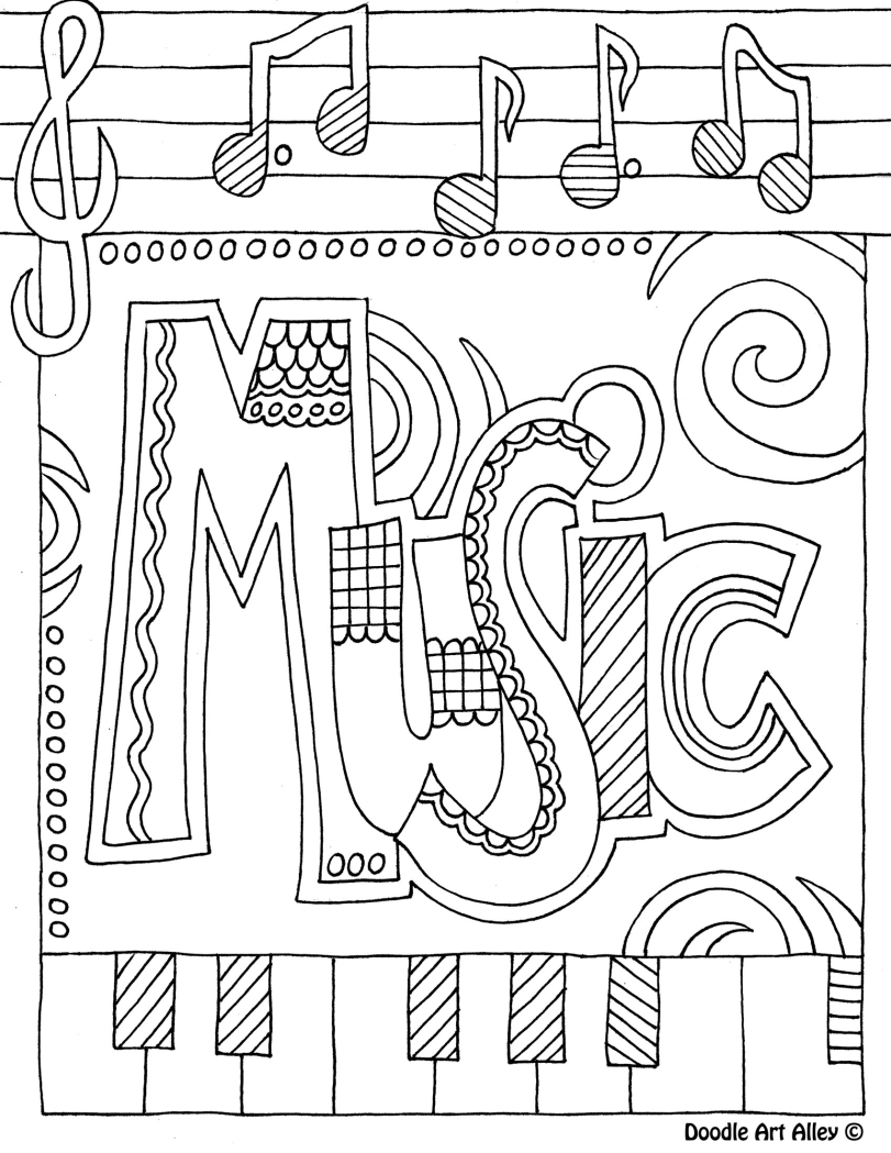 Music color page i like to print these on the back of sub plan worksheets colouring pagesfree