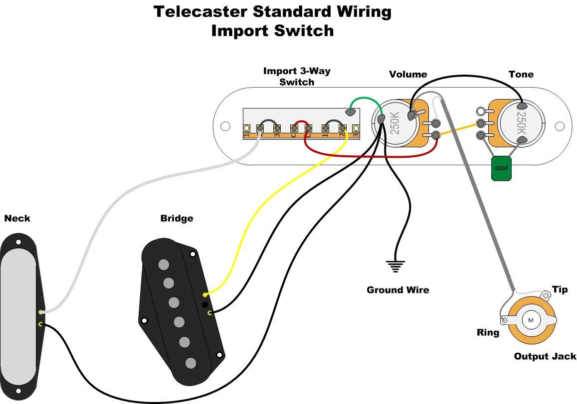 electric guitar ledningsdiagram volume tone
