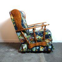Mid Century Rocker / Vintage 1960s Floral Upholstered ...