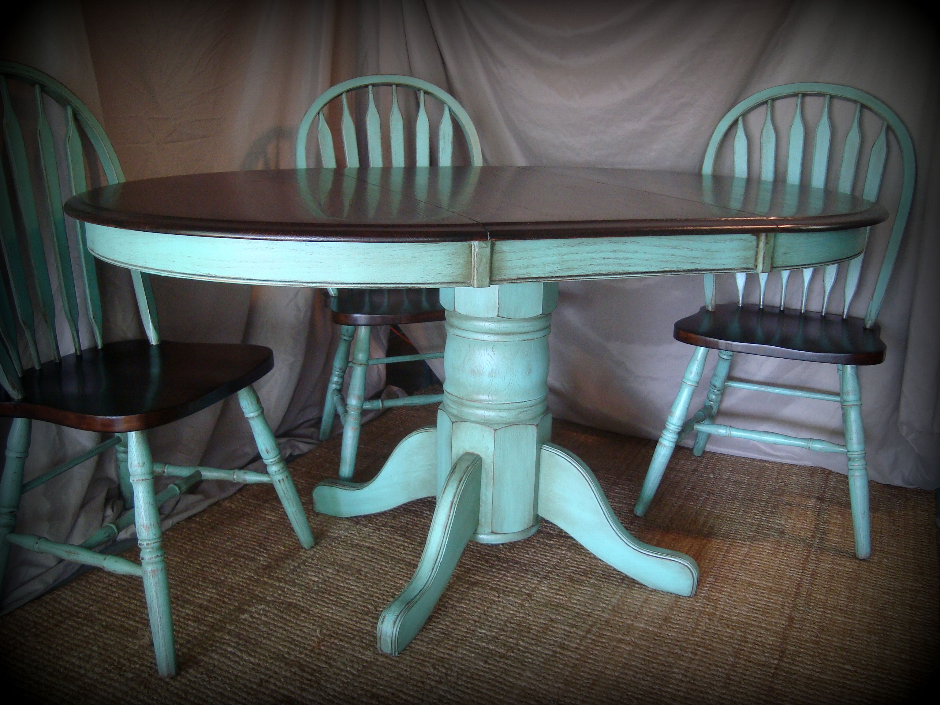 turquoise kitchen tables beachy kitchen table kitchen table refinishing ideas pictures stained the table top and chairs with dark walnut