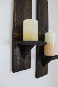 DIY Pallet Wood Candle Sconces | Diy wood projects, Wood ...