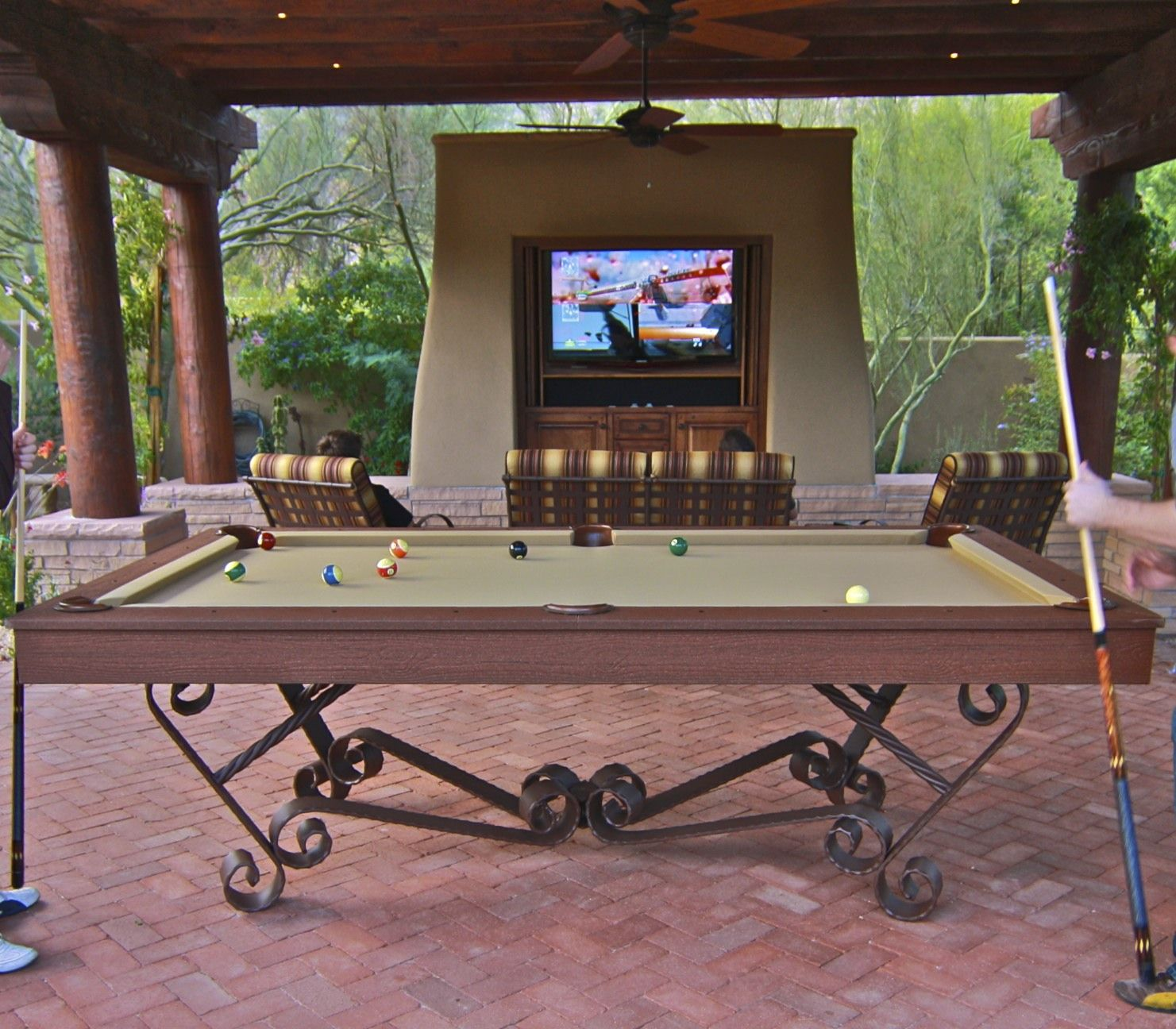 Diy Pool Table Dining Top Pool Table Outdoors How Awesome But Adjust Shots For