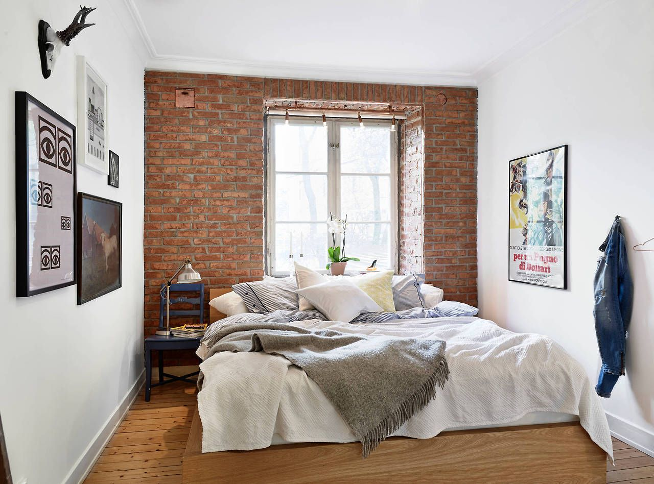 Behang Baksteenmotief My Type Of Style Beautiful Brick Accent Wall Minimal