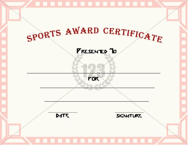 Good Sports Award Certificate Templates for free Download - award certificate template
