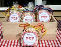 DIY Baby shower favors for carnival themed couples baby ...