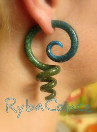 Fake ear gauges / Faux gauges/Gauge earrings / fake ...