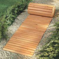 walkways+for+wet+yards | Eight Foot Wooden Yard Pathway ...