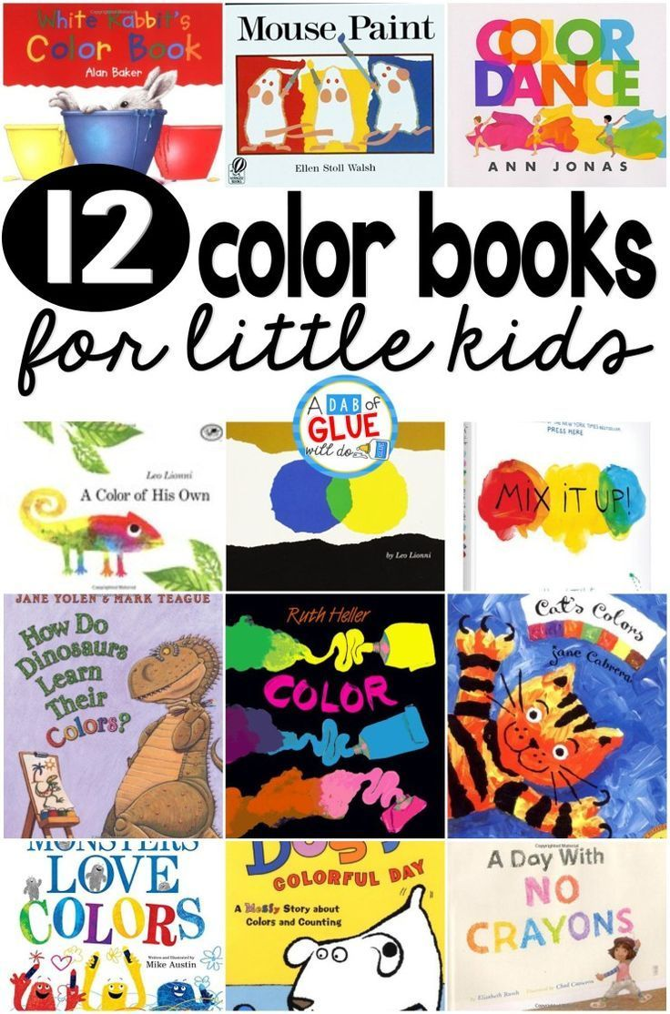 12 color books for little kids